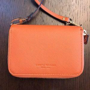 Campo Marzio Orange Crossbody Wallet